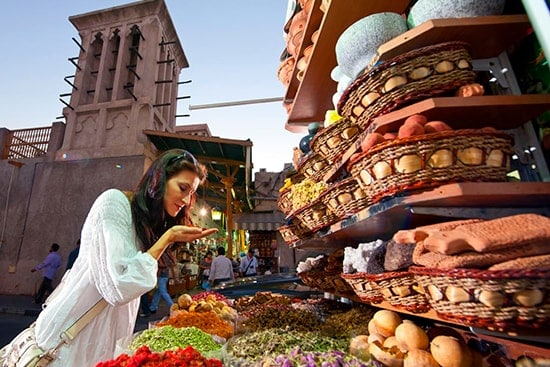 Dubais local market or Souk dressing